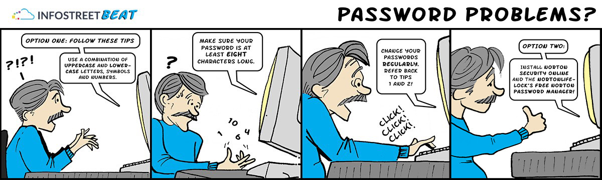 Comic of man forgetting password